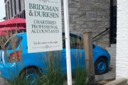 Bridgman & Durksen double-sided hanging sign