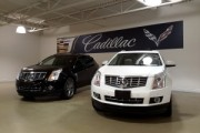 50''x30' Interior Banner installed at Brian Cullen Motors Cadillac showroom